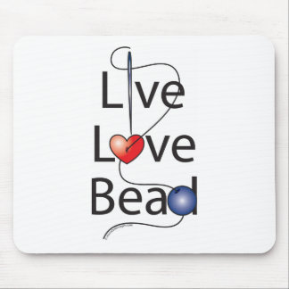 Live Love Bead Mouse Pad