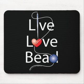 Live Love Bead Mouse Pads