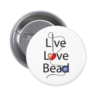 Live Love Bead Pinback Button