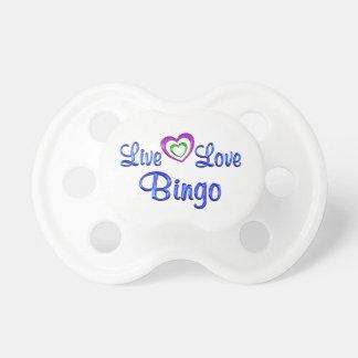 Live Love Bingo Baby Pacifiers