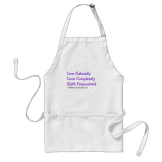 Live, Love, Birth Adult Apron