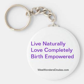 Live, Love, Birth Basic Round Button Keychain