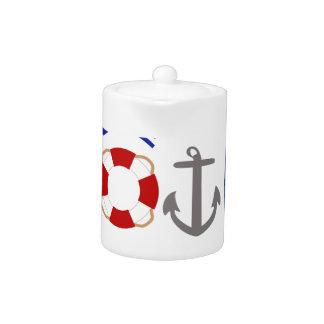 Live Love Boating Teapot