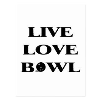 Live Love Bowl Postcard