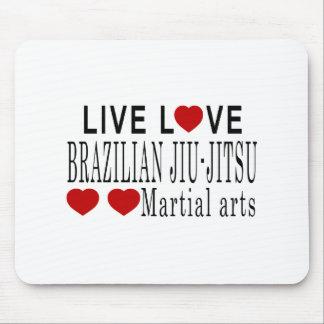 LIVE LOVE BRAZILIAN JIU-JITSU MARTIAL ARTS MOUSE PAD