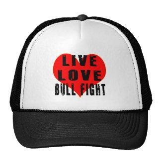 Live Love Bull Fight Trucker Hat