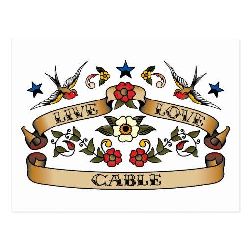 Live Love Cable Postcard