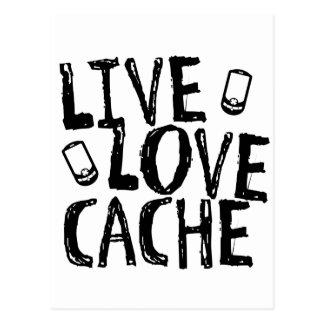 Live, Love, Cache Postcard