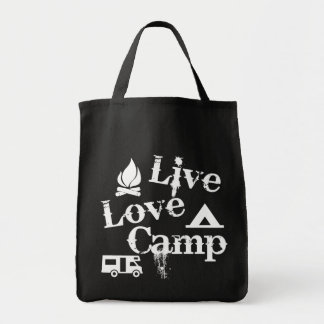 Live, Love, Camp Grocery Tote Bag