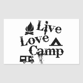 Live, Love, Camp Rectangular Sticker