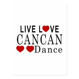 LIVE LOVE CANCAN DANCE POSTCARD