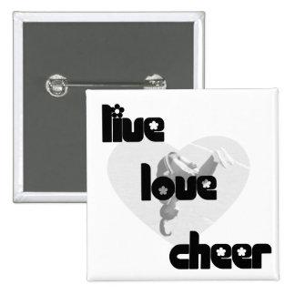 Live Love Cheer Pins