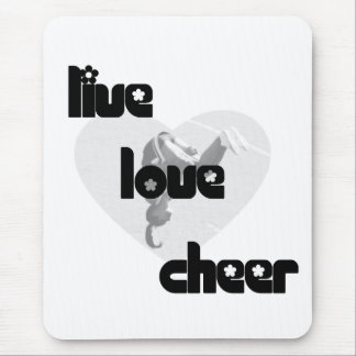 Live Love Cheer Mouse Pad