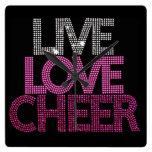 Live Love Cheer - Wall Clock