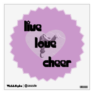 Live Love Cheer Wall Decal