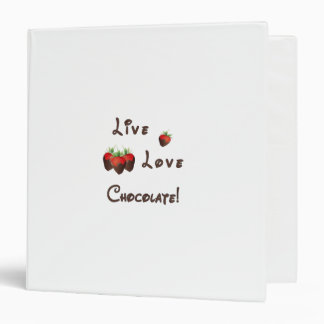 Live Love Chocolate Binder