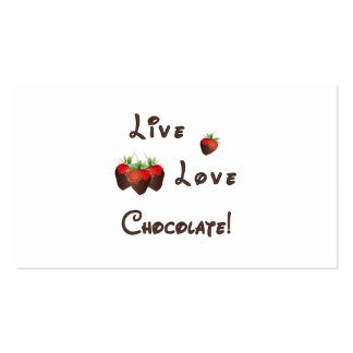 Live Love Chocolate Business Card Templates