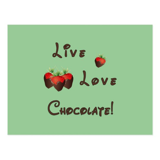 Live Love Chocolate Postcard