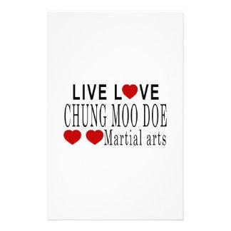 LIVE LOVE CHUNG MOO DOE MARTIAL ARTS STATIONERY