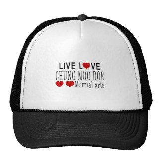 LIVE LOVE CHUNG MOO DOE MARTIAL ARTS TRUCKER HAT