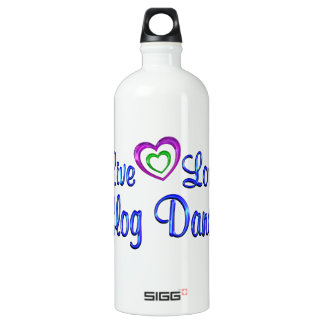 Live Love Clog Dance Aluminum Water Bottle
