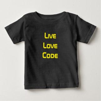 Live Love Code Baby T-Shirt