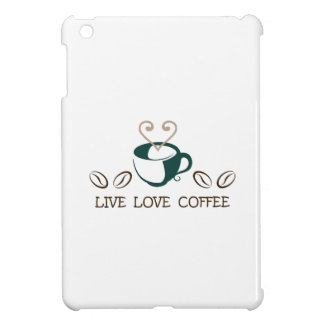 LIVE LOVE COFFEE COVER FOR THE iPad MINI