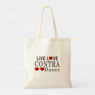 LIVE LOVE CONTRA DANCING DANCE TOTE BAG