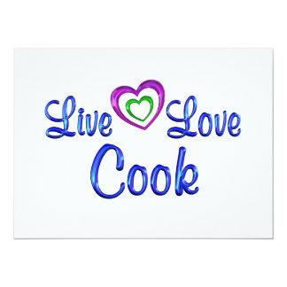 Live Love Cook Invite