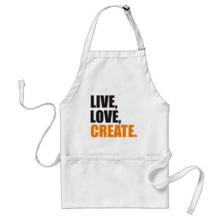 live love create adult apron