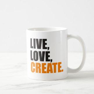 live love create coffee mug