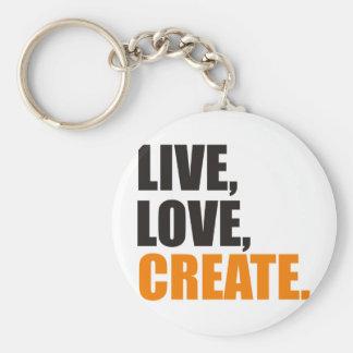 live love create keychain