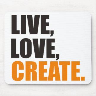 live love create mouse pad