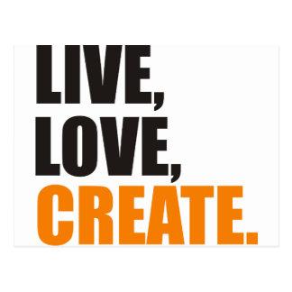 live love create postcard