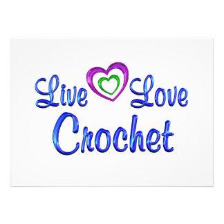 Live Love Crochet Invitations