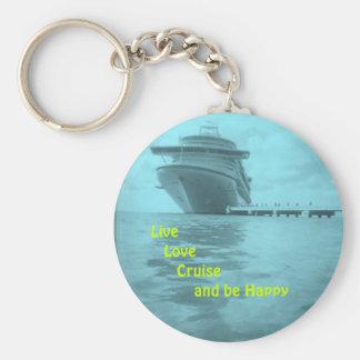Live Love Cruise Keychain