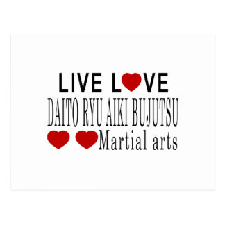 LIVE LOVE DAITO RYU AIKI BUJUTSU MARTIAL ARTS POSTCARD