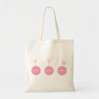 Live Love Dance Ballerinas - Pink - Canvas Bags