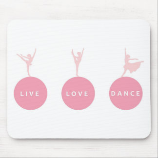 Live Love Dance Ballerinas - Pink - Mousepads