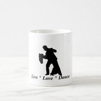 Live, Love, Dance - Ballroom Couple Mug