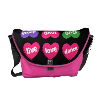 live love dance courier bag