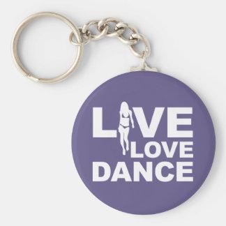 Live Love Dance Keychain