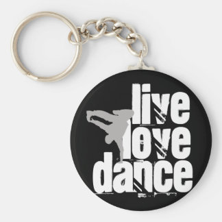 Live, Love, Dance Keychain