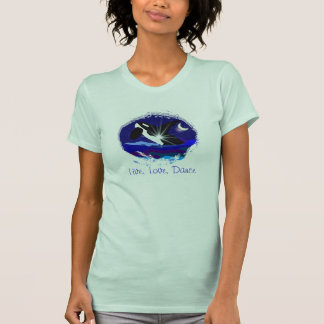 Live Love Dance Killer whale breach ladies tee