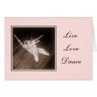 'Live, Love, Dance' Note Card