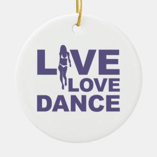Live Love Dance Christmas Ornament