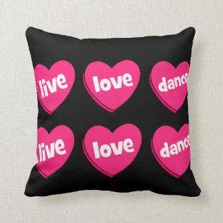 live love dance pillows