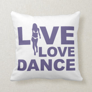 Live Love Dance Throw Pillow