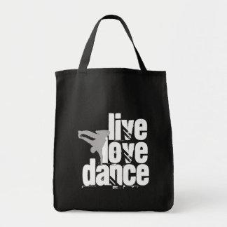 Live, Love, Dance Tote Bag