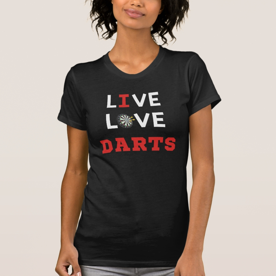Live Love Darts Bullseye T-Shirt - Best Selling Long-Sleeve Street Fashion Shirt Designs